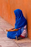 Woman begging, San Miguel de Allende, Guanajuato state, Mexico