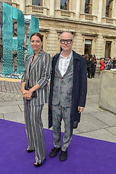 Yana Peel and Hans-Ulrich Obrist at The Royal Academy of Arts Summer Exhibition Preview Party 2019, Burlington House, Piccadilly, London England. 04 June 2019.