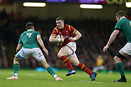 Scott Williams of Wales looks to go past Conor Murray of Ireland.RBS Six Nations 2017 international rugby, Wales v Ireland at the Principality Stadium in Cardiff , South Wales on Friday 10th March 2017.  pic by Andrew Orchard, Andrew Orchard sports photography
