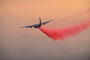 "CalFire Air Ops battle to secure a fireline along Old Lawley Toll Road and Highway 29 above Calistoga in Napa Valley, California on September 30, 2020 as the massive ""Glass Fire"" burns through the region. Despite heroic  efforts of air and ground crews the fire jumped the line the next morning."