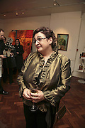 Inna  Rogatchi, The Real Dream, private view for an exhibition of work by Michael Rogatchi. Cork St. London.  5 December 2006. ONE TIME USE ONLY - DO NOT ARCHIVE  © Copyright Photograph by Dafydd Jones 248 CLAPHAM PARK RD. LONDON SW90PZ.  Tel 020 7733 0108 www.dafjones.com
