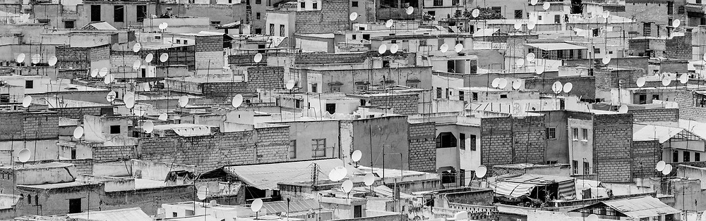Rooftops and satellite dishes, Fez, Morocco, 1999
