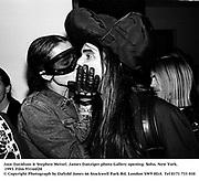 Jaye Davidson & Stephen Meisel. James Danziger photo Gallery opening. Soho, New York. 1993. Film 93144f20<br />© Copyright Photograph by Dafydd Jones<br />66 Stockwell Park Rd. London SW9 0DA<br />Tel 0171 733 010