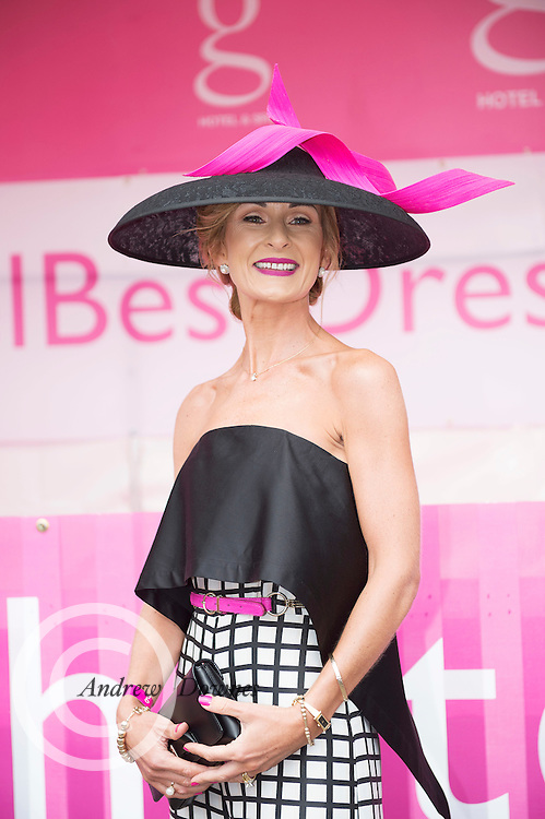 Sinead Purcell, Kilcolgan  finalist in the G Hotel's Best dressed Lady at the Galway Races  . Photo:Andrew Downes, XPOSURE.