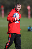 Wales coach Rob Howley looks on.Wales rugby team training at the Vale Resort, Hensol near Cardiff on Tuesday 5th March 2013.  pic by  Andrew Orchard, Andrew Orchard sports photography,