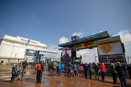 A general view in Bridlington of the Spa and the Rider presentation sign on stage prior to the third stage of the Tour de Yorkshire from Bridlington to Scarborough, , United Kingdom on 4 May 2019.