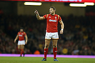Dan Biggar of Wales looks on.Under Armour 2016 series international rugby, Wales v Argentina at the Principality Stadium in Cardiff , South Wales on Saturday 12th November 2016. pic by Andrew Orchard, Andrew Orchard sports photography