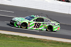 July 21, 2018 - Loudon, NH, U.S. - LOUDON, NH - JULY 21: Kyle Busch, driver of the #18 Interstate Batteries Toyota during practice for the Monster Energy Cup Series Foxwoods Resort Casino 301 race on July, 21, 2018, at New Hampshire Motor Speedway in Loudon, NH. (Photo by Malcolm Hope/Icon Sportswire) (Credit Image: © Malcolm Hope/Icon SMI via ZUMA Press)