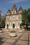Facade of St. Joseph's Church on Wangfujing Street during summer in Beijing, China