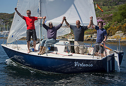 Sailing - SCOTLAND  - 28th May 2018<br /> <br /> Final days racing the Scottish Series 2018, organised by the  Clyde Cruising Club, with racing on Loch Fyne from 25th-28th May 2018<br /> <br /> GBR8005N, Virtuoso, Brian Wiseman/ Guy Neville, Craignish BC<br /> <br /> Credit : Marc Turner<br /> <br /> Event is supported by Helly Hansen, Luddon, Silvers Marine, Tunnocks, Hempel and Argyll & Bute Council along with Bowmore, The Botanist and The Botanist