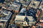 Nederland, Noord-Holland, Alkmaar, 28-10-2016; centrum van Alkmaar, met Grote of Sint Laurenskerk, Canadaplein, Stedelijk Museum Alkmaar, Taqa theater De Vest.<br /> Alkmaar historical city centre.<br /> luchtfoto (toeslag op standard tarieven);<br /> aerial photo (additional fee required);<br /> copyright foto/photo Siebe Swart