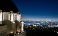 View of Los Angeles from the Griffith Observatory.