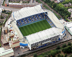 Image ©Licensed to i-Images Picture Agency. Aerial views. United Kingdom.<br /> Stamford Bridge, home of chelsea FC. Picture by i-Images