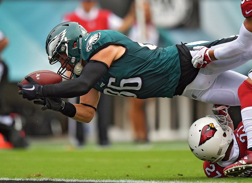 The Philadelphia Eagles beat the Arizona Cardinals 34-7 at Lincoln Financial Field on October 8, 2017 in Philadelphia, Pennsylvania.  (Photo by Drew Hallowell/Philadelphia Eagles)