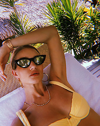 """Rosie Huntington-Whiteley releases a photo on Instagram with the following caption: """"Mellow yellow \ud83c\udf4b"""". Photo Credit: Instagram *** No USA Distribution *** For Editorial Use Only *** Not to be Published in Books or Photo Books ***  Please note: Fees charged by the agency are for the agency's services only, and do not, nor are they intended to, convey to the user any ownership of Copyright or License in the material. The agency does not claim any ownership including but not limited to Copyright or License in the attached material. By publishing this material you expressly agree to indemnify and to hold the agency and its directors, shareholders and employees harmless from any loss, claims, damages, demands, expenses (including legal fees), or any causes of action or allegation against the agency arising out of or connected in any way with publication of the material."""