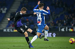 January 4, 2019 - Barcelona, Spain - Melendo and Gumbau during the match between RCD Espanyol and CD Leganes, corresponding to the week 18 of the Liga Santander, played at the RCDE Stadium on 04th January 2019 in Barcelona, Spain. (Credit Image: © Joan Valls/NurPhoto via ZUMA Press)