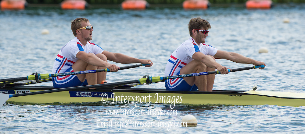 Caversham, England, GBR M2X, bow. John COLLINS and Jonny WALTON. 2015 GBRowing World Championship Team Announcement. Tuesday. 21.07.2015.  At the Reading Training Base. [Mandatory Credit. Peter SPURRIER/Intersport Images]