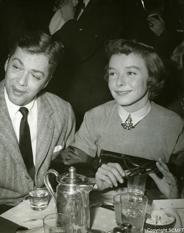 1951 Actress Diana Lynn at Ciro's Nightclub during Sammy Davis' premiere performance