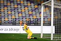 Aaron Ramsdale of England during friendly Football match between U21 national teams of Slovenia and England, on October 11, 2019 in Ljudski Vrt, Maribor, Slovenia. Photo by Blaž Weindorfer / Sportida
