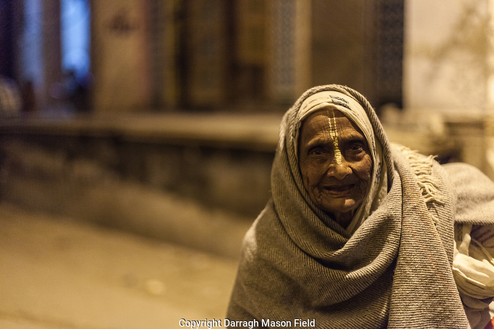 Gaini aged 90 walks home after a day spent chanting and singing Bhajan hymns for 8 hours at Sri Bagwan Bhajan.  Kind and smiling she stopped to bless me.