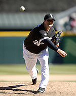 CHICAGO - APRIL 09:  Matt Albers #34 of the Chicago White Sox pitches against the Cleveland Indians on April 9, 2016 at U.S. Cellular Field in Chicago, Illinois.  The White Sox defeated the Indians 7-3.  (Photo by Ron Vesely)  Subject: Matt Albers