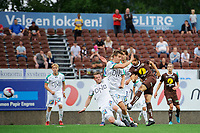 Fotball , 1.divisjon , OBOS-ligaen <br /> 10.06.2018 , 20180610<br /> Mjøndalen - HamKam<br /> Mjøndalens matchvinner Mahmoud Eid scorer sitt mål til 2-1 <br /> Foto: Sjur Stølen / Digitalsport