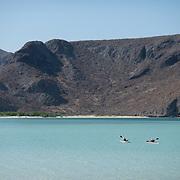 Kayakers in Balandra Bay. La Paz, BCS.