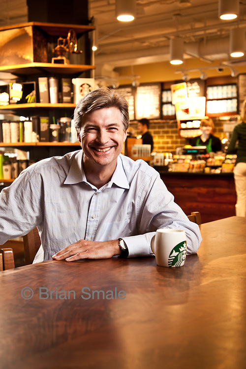 Richard Lautch, Treasurer of Starbucks Coffee.  Photographed by Brian Smale for Treasury & Risk Magazine.