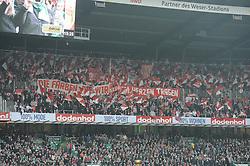 05.11.2011, Weserstadion, Bremen, GER, 1.FBL, Werder Bremen vs 1. FC Köln / Koeln, im Bild Kölner Fanblock..// during the match Werder Bremen vs 1. FC Koeln on 2011/11/05, Weserstadion, Bremen, Germany..EXPA Pictures © 2011, PhotoCredit: EXPA/ nph/  Frisch       ****** out of GER / CRO  / BEL ******