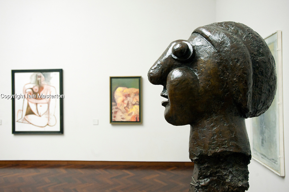 Picasso bust Head of a Woman at Stadel art museum or Stadelsches Kunstinstitut in Frankfurt Germany