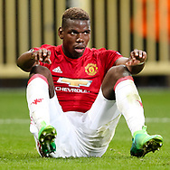 Manchester United's Paul Pogba looks on dejected during the Europa League Quarter Final 1st leg match at RSCA Constant Vanden Stock Stadium, Anderlecht, Belgium. Picture date: April 13th, 2017.Pic credit should read: Charlie Forgham-Bailey/Sportimage
