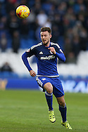 Anthony Pilkington of Cardiff city in action. Skybet football league championship match, Cardiff city v Rotherham Utd at the Cardiff city stadium in Cardiff, South Wales on  Saturday 23rd January 2016.<br /> pic by  Andrew Orchard, Andrew Orchard sports photography.