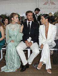 Pierre Casiraghi, Beatrice Borromeo, Eva Longoria attend the Alberta Ferretti cruise collection fashion show held at Monaco Yacht Club, Monaco on May 18 , 2109. Photo by ABACAPRESS.COM