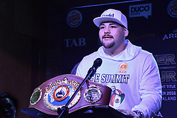 December 8, 2016 - Auckland, New Zealand - Mexican boxer Andy Ruiz  speaks to the media during a Press conference ahead of the WBO world title boxing match against Joseph Parker (Credit Image: © Shirkey Kwok/Pacific Press via ZUMA Wire)