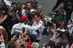 May 26, 2019 - Monte Carlo, Monaco - xa9; Photo4 / LaPresse.26/05/2019 Monte Carlo, Monaco.Sport .Grand Prix Formula One Monaco 2019.In the pic: Lewis Hamilton (GBR) Mercedes AMG F1 W10 and Toto Wolff (GER) Mercedes AMG F1 Shareholder and Executive Director (Credit Image: © Photo4/Lapresse via ZUMA Press)