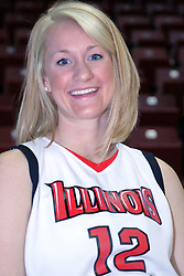15 October 2008:  Ashley Sandstead at Illinois State University Women's Basketball Media Day inside Redbird Arena in Normal Illinois.