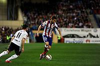 Atletico de Madrid´s Gabi and Valencia CF´s Pablo Piatti during 2014-15 La Liga match between Atletico de Madrid and Valencia CF at Vicente Calderon stadium in Madrid, Spain. March 08, 2015. (ALTERPHOTOS/Luis Fernandez)