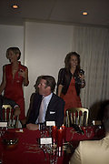 Cynthia Conran, Rory Fleming and Julie Brangstrup, The Eve Appeal Dinner, Nobu London,  Dinner in aid of Eve Appeal, Gynaecology Cancer Research Fund, 3 September 2007. -DO NOT ARCHIVE-© Copyright Photograph by Dafydd Jones. 248 Clapham Rd. London SW9 0PZ. Tel 0207 820 0771. www.dafjones.com.