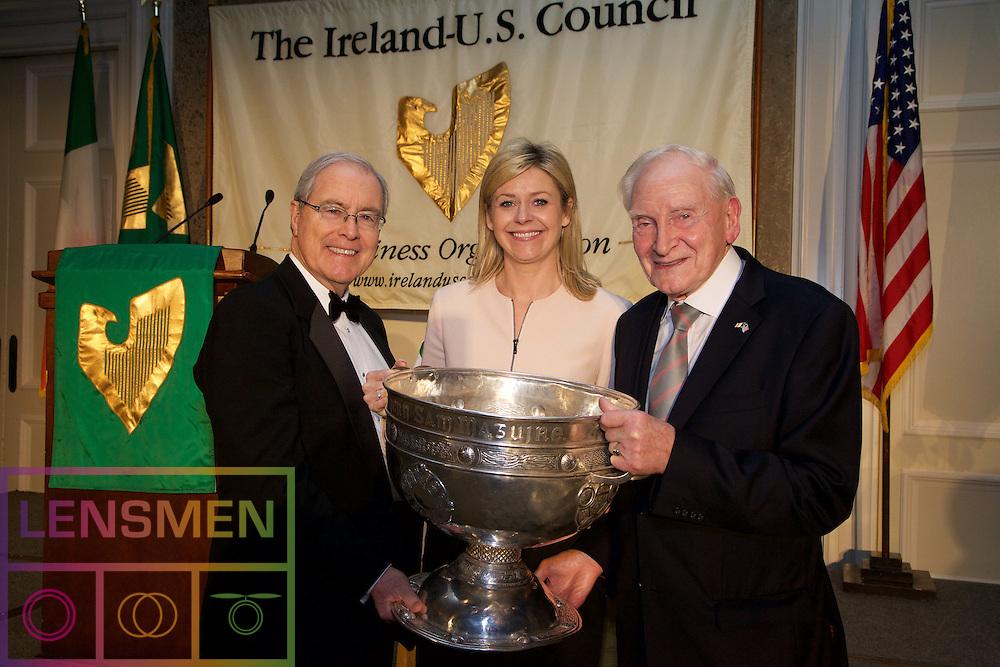 Kevin O'Malley - U.S. Ambassador to Ireland<br /> Yvonne Muldoon - Aer Lingus<br /> Rowdy Feely  - Ireland - U.S. Council