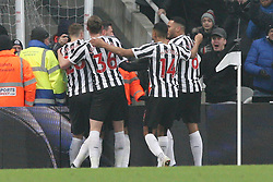January 19, 2019 - Newcastle, England, United Kingdom - Newcastle United's Fabian Schar celebrates after scoring his side's second goal during the Premier League match between Newcastle United and Cardiff City at St. James's Park, Newcastle on Saturday 19th January 2019. (Credit Image: © Mark Fletcher/NurPhoto via ZUMA Press)
