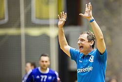Marko Sibila, head coach of RK Gorenje during handball match between RK Gorenje and RK Celje Pivovarna Lasko in 5th Round of 1st NLB Leasing Slovenian Champions League 2015/16, on May 11, 2016, in Red arena, Velenje, Slovenia. Photo by Vid Ponikvar / Sportida