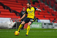Rory McArdle of Scunthorpe United (23) in action during the EFL Sky Bet League 1 match between Doncaster Rovers and Scunthorpe United at the Keepmoat Stadium, Doncaster, England on 15 December 2018.