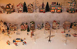 California: Napa City.  Christmas Victorian village display during B&B Holiday Tour at Inn on First.  Photo copyright Lee Foster.  Photo # canapa107012