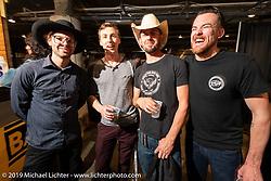 Andy James Dio (L>R), Jay Donovan, Kyle Shorey and Nick Adams at the Handbuilt Show. Austin, TX. USA. Saturday April 21, 2018. Photography ©2018 Michael Lichter.