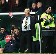 Gordon Strachan manager of Scotland calls for full time - UEFA Euro 2016 Qualifier - Scotland vs Republic of Ireland - Celtic Park Stadium - Glasgow - Scotland - 14th November 2014  - Picture Simon Bellis/Sportimage