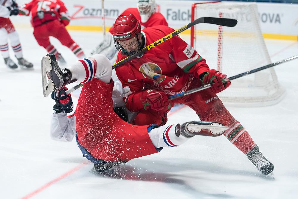 SPISSKA NOVA VES, SLOVAKIA - APRIL 14: Czech Republic vs Belarus preliminary round 2017 IIHF Ice Hockey U18 World Championship. (Photo by Steve Kingsman/HHOF-IIHF Images)