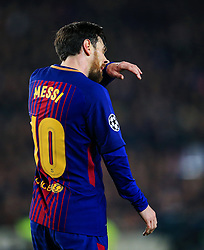 Lionel Messi of Barcelona looks dejected - Mandatory by-line: Matt McNulty/JMP - 14/03/2018 - FOOTBALL - Camp Nou - Barcelona, Catalonia - Barcelona v Chelsea - UEFA Champions League - Round of 16 Second Leg