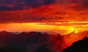 Setting Sun From the Base of Sahale Glacier, North Cascades National Park, Washington