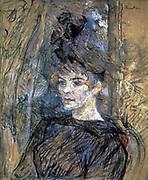 Portrait of Suzanne Valladon' 1885: Henri Toulouse Lautrec (1864-1901) French painter, draftsman and illustrator.