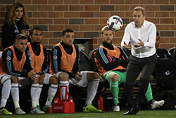 October 7, 2017 - Minneapolis, MN, USA - Minnesota United head coach Adrian Heath fields a loose ball on the sidelines in the first half against Sporting Kansas City on Saturday, Oct. 7, 2017, at TCF Bank Stadium in Minneapolis. The teams tied, 1-1. (Credit Image: © Anthony Souffle/TNS via ZUMA Wire)
